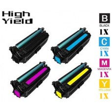 4 Piece Bulk Set Hewlett Packard HP646X High Yield combo Laser Toner Cartridges Premium Compatible