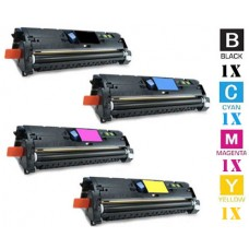 4 Piece Bulk Set Hewlett Packard HP121A combo Laser Toner Cartridges Premium Compatible