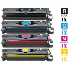 4 Piece Bulk Set Hewlett Packard HP122A combo Laser Toner Cartridges Premium Compatible
