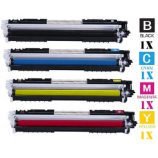 4 Piece Bulk Set Hewlett Packard HP130A combo Laser Toner Cartridges Premium Compatible