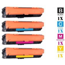 4 Piece Bulk Set Hewlett Packard HP307A Laser Toner Cartridge Premium Compatible