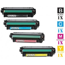 4 Piece Bulk Set Hewlett Packard HP507A combo Laser Toner Cartridges Premium Compatible