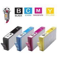 4 Piece Bulk Set Hewlett Packard HP564XL High Yield combo Ink Cartridges Remanufactured