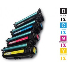 4 Piece Bulk Set Hewlett Packard HP648A HP647A combo Laser Toner Cartridges Premium Compatible