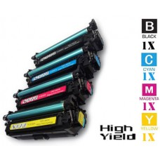 4 Piece Bulk Set Hewlett Packard HP649X HP647A combo Laser Toner Cartridges Premium Compatible