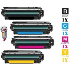 4 Piece Bulk Set Hewlett Packard HP651A combo Laser Toner Cartridges Premium Compatible