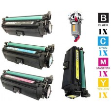 4 Piece Bulk Set Hewlett Packard HP653X High Yield combo Laser Toner Cartridges Premium Compatible
