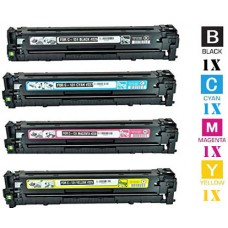4 Piece Bulk Set Hewlett Packard HP652A combo Laser Toner Cartridges Premium Compatible