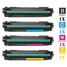4 Piece Bulk Set Genuine Original Hewlett Packard HP657X High Yield combo Laser Toner Cartridges