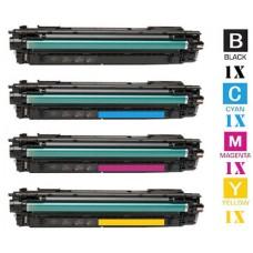 4 PACK Genuine Hewlett Packard HP657X High Yield combo Laser Toner Cartridges