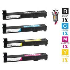 4 Piece Bulk Set Hewlett Packard HP826A combo Laser Toner Cartridges Premium Compatible
