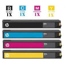 4 Piece Bulk Set Hewlett Packard HP970XL HP971XL High Yield combo Laser Toner Cartridges Remanufactured