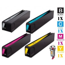 4 Piece Bulk Set Hewlett Packard HP981Y Extra High Yield Ink Cartridge Remanufactured
