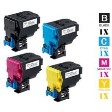 4 PACK Konica Minolta A0X5 High Yield combo Laser Toner Cartridges Premium Compatible