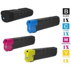 4 PACK Kyocera Mita TK8527 combo Laser Toner Cartridge Premium Compatible