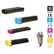 4 Piece Bulk Set Genuine Original Kyocera Mita TK8707 combo Laser Toner Cartridges