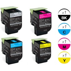 4 PACK Lexmark 80C1S combo Laser Toner Cartridges Premium Compatible