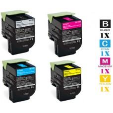 4 PACK Genuine Lexmark C231H0 Toner Cartridges