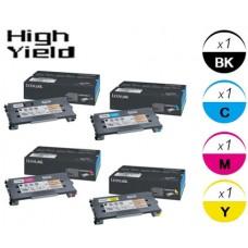 4 PACK Lexmark C500H2 High Yield Toner Cartridges Premium Compatible