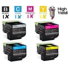 4 Piece Bulk Set Lexmark C544X1 Toner Cartridges Premium Compatible
