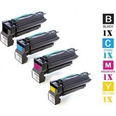 4 PACK Lexmark C7700 Standard Toner Cartridges Premium Compatible 15