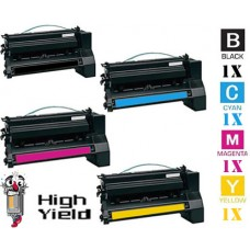 4 PACK Lexmark C780H Toner Cartridges Premium Compatible