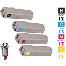 4 PACK Okidata 4649060 Black combo Laser Toner Cartridge