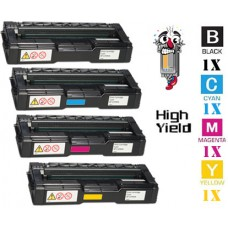 4 Piece Bulk Set Ricoh 40647 combo Laser Toner Cartridge Premium Compatible