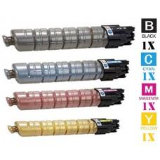 4 PACK Ricoh 82107 82110 combo Laser Toner Cartridge Premium Compatible