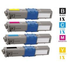 4 PACK OKI TYPE 17 Series combo Laser Toner Cartridge Premium Compatible