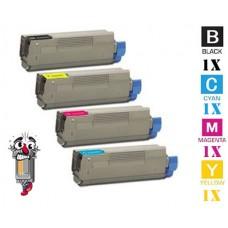 4 PACK OKI TYPE C2 Series combo Laser Toner Cartridge Premium Compatible