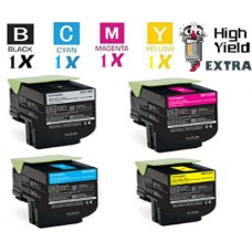 4 PACK Lexmark 701X Extra High Yield Toner Cartridges Premium Compatible
