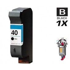 Hewlett Packard 51640A HP40 Black Pigment Ink Cartridge Remanufactured