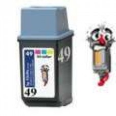 Hewlett Packard 51649A HP49 Tri-Color Inkjet Cartridge Remanufactured
