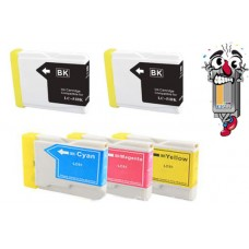 5 Piece Bulk Set Brother LC51 combo Ink Cartridges Remanufactured