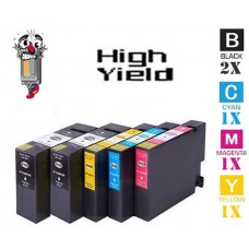 5 Piece Bulk Set Canon PGI1200XL High Yield combo Ink Cartridges Remanufactured