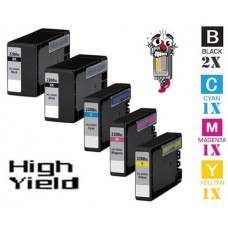 5 Piece Bulk Set Canon PGI2200XL High Yield combo Ink Cartridges Remanufactured