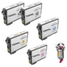 5 Piece Bulk Set Epson T200XL High Yield combo Ink Cartridges Remanufactured