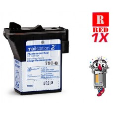 Pitney Bowes 797 797-Q Fluorescent Red Inkjet Cartridge Remanufactured