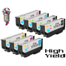 7 Piece Bulk Set Epson T277XL High Yield combo Ink Cartridges Remanufactured