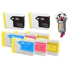 8 Piece Bulk Set Brother LC51 combo Ink Cartridges Remanufactured