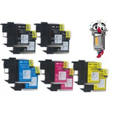 8 Piece Bulk Set Brother LC61 combo Ink Cartridges Remanufactured