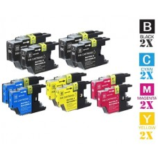 8 Piece Bulk Set Brother LC79 Extra High Yield combo Ink Cartridges Remanufactured