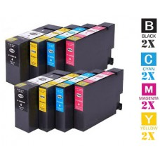 8 Piece Bulk Set Canon PGI1200XL High Yield combo Ink Cartridges Remanufactured