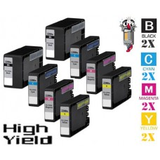 8 Piece Bulk Set Canon PGI2200XL High Yield combo Ink Cartridges Remanufactured