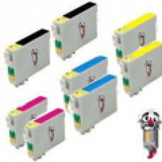 8 PACK Epson T126 combo Ink Cartridges Remanufactured