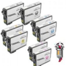 8 Piece Bulk Set Epson T200XL High Yield combo Ink Cartridges Remanufactured