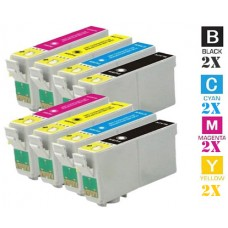 8 Piece Bulk Set Epson T288XL High Yield combo Ink Cartridges Remanufactured