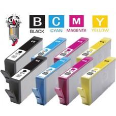 8 Piece Bulk Set Hewlett Packard HP564XL High Yield combo Ink Cartridges Remanufactured
