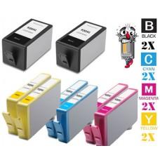 8 Piece Bulk Set Hewlett Packard HP920XL High Yield combo Ink Cartridges Remanufactured